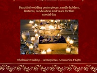 Wholesale wedding centerpieces, candle holders, lanterns, and candelabras for weddings, receptions and parties.. Wholesale lanterns for spa and resorts. We ship to Canada!