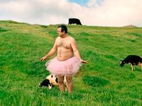 Photographer Bob Carey goes around and photographs himself in his pink tutu all to help raise funds to fight breast cancer.  Please go to his website the Tutu Project to help!  You have to love Bob as well as his cause-save the tatas baby!