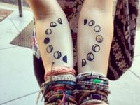 moon phases tattoo