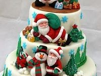 All kinds of Christmas cakes