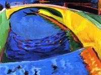 Ernst Ludwig Kirchner, né le 6 mai 1880 à Aschaffenburg, en Bavière et mort le 15 juin 1938 à Frauenkirch, près de Davos en Suisse, est un peintre expressionniste allemand et l'un des fondateurs de l'association Die Brücke. Wikipédia