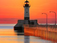 beautiful to whimsical lighthouses standing tall,bright and strong.