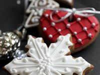Galletas y variedad de postres para Navidad.