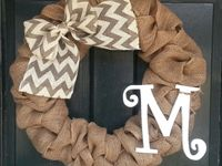 I love burlap wreaths for every occasion.