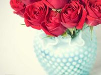 Red and aqua together