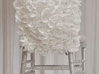 Inspirational board to give brides ideas for chair covers.