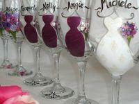 DIY Wine Glasses & Bottles