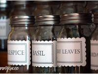 Spice jar labels