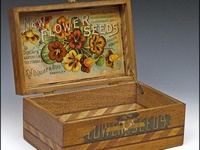 Antique Seed Boxes, Seed Cabinets & Seed Packets