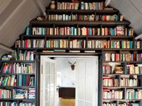 Bookshelves and ways to store books at home