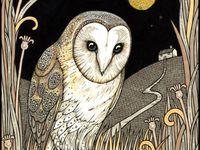 Animals, birds, creatures in art