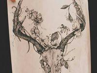 deer/antler tattoo