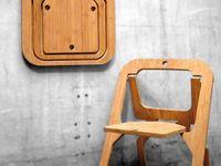 Muebles originales y diferentes hechos en madera.