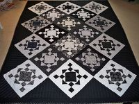 quilt in black and white