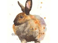 Here I have found the most adorable watercolor bunny paintings on Pinterest, Etsy, Folksy and beyond - put your feet up and enjoy the binkies!