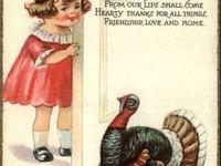 Vintage Thanksgiving Cards & Postcards
