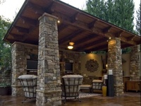 Pool house/ outdoor kitchen