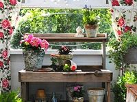 A Collection of Potting Benchs, Potting Sheds and other Potting Places.