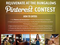 """UPDATE: To celebrate our upcoming 5th anniversary we are upping the prize to a FIVE NIGHT stay!!! Rejuvenate at The Bungalows Pinterest Contest. Pin your way to health and wellness in the new year with Terranea Resort's 2014 """"Rejuvenate at the Bungalows"""" Pinterest contest. If selected, one lucky pinner will win their very own 5 night retreat to The Bungalows at Terranea. Happy pinning!"""