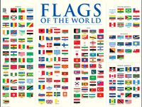 Selection of flags of the world