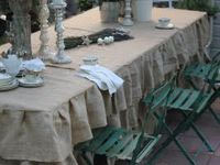 shabby Chic table cloths and runners