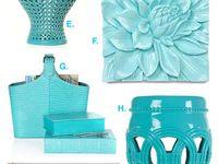 Aqua living room accessories