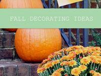 Ideas for fall decor around the home!