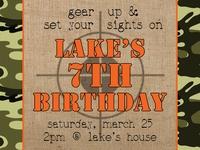 Camo Birthday Party Ideas