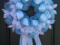 Welcome home baby mesh wreaths