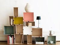 [deco] crate shelves / estanterías con cajas