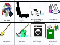 chore charts, pictures, and lists I'm using