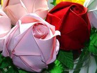 FLORES E ROSAS DE ORIGAMI