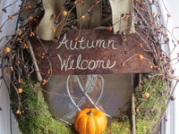 Fall crafts and decoration.