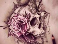 Skin art that is very effective and many designs. Piercings anyway on the body
