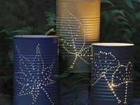 Upcycled tin can lighting and DIY craft decor