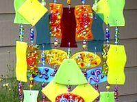 Fused Glass Windchimes