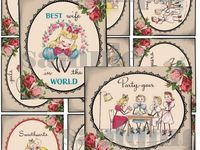 Many printables of vintage graphics. See also other boards - Papercrafts, and Printables for crafts/scrapping.