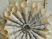 old maps, sheet music and book pages put to good creative use