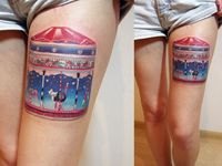 Circus and carnival tattoo