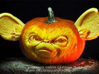 Humorous Halloween Pumpkins and Snowmen