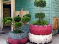 Recycling ideas using car tyres in the garden...from ponds to outdoor furniture