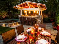 We love Outdoor Kitchens! What better way to build memories in your landscape! Fun, food, family, and friends! Great combination!  This Outdoor Kitchen board boasts some of our favorite Paradise Restored kitchen designs as well as some other favorites!