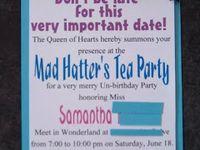 Tea Party Bday