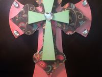 Hand painted wooden crosses $25 each plus shipping can be done in any colors!!'