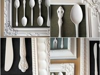 #diy, #decor, #silver, #silverware, #gold, #repurposed, #upcycled, #argenterie (french Silver)