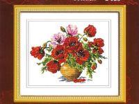 cross-stitch: flowers