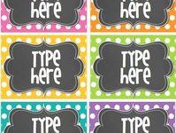 Fonts, labels, graphics