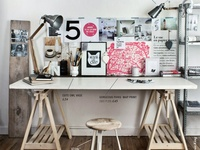 beautiful studios/workspaces...inspiration for my home studio...
