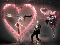 Window Display ideas for Valentine's Day. See our other Pinterest boards for inspirational window display ideas and  visit our website, MannequinMadness.com to buy  mannequins, dress forms, jewelry displays and mannequin parts.