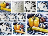 Art lesson acrylic